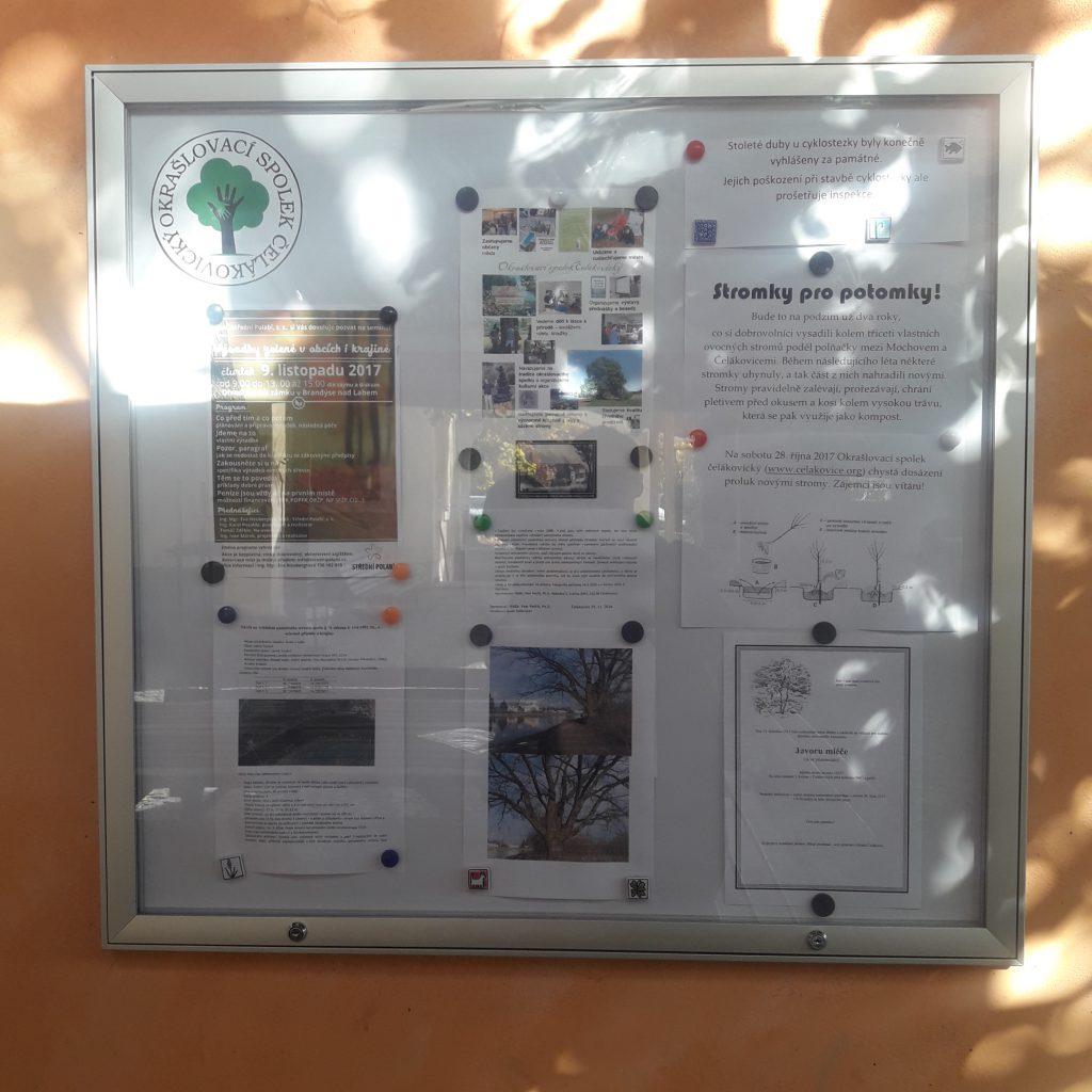 Nová nástěnka v Rybářské ulici